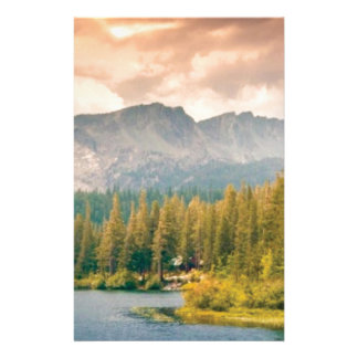 trees mountain and stream stationery