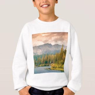 trees mountain and stream sweatshirt
