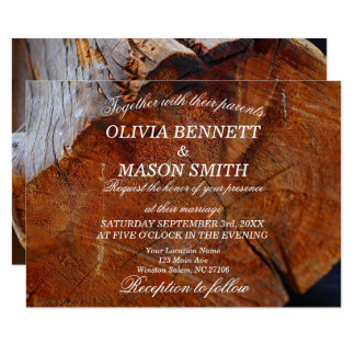 Trees & Nature Textured Wedding Invitation