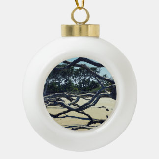 Trees on Jekyll Ceramic Ball Ornament