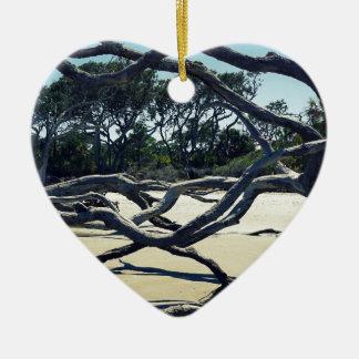Trees on Jekyll Ceramic Heart Ornament