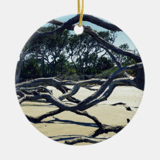 Trees on Jekyll Round Ceramic Ornament
