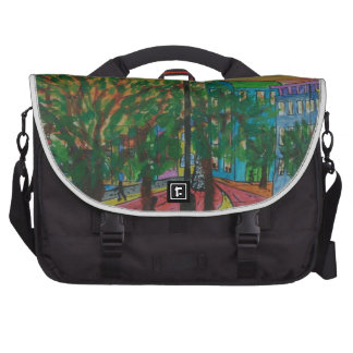 Trees on the Quayside Laptop Bag