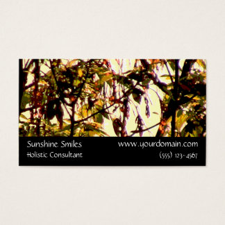 Trees Organic Patterns Leaves Branches at Dawn Business Card