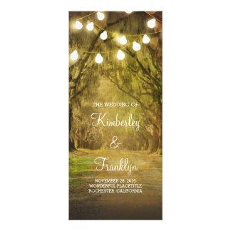 Trees Path String Lights Wedding Programs