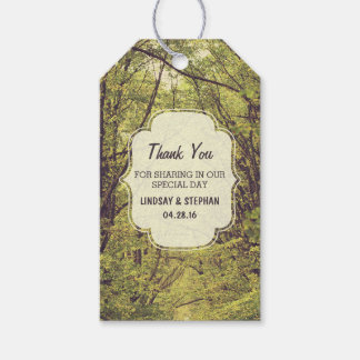 Trees Path Wedding Thank You Gift Tags