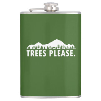 Trees Please Hip Flask