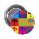 Trees Pop Art Buttons