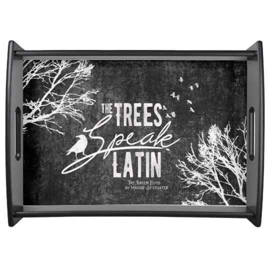 Trees Speak Latin tray Food Tray