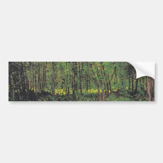 Trees & Undergrowth by Van Gogh Bumper Sticker
