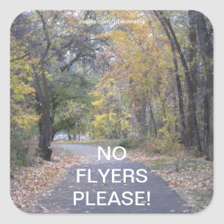 Trees Walk Path No Flyers Please Sticker