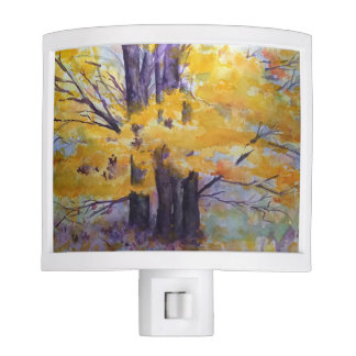 Trees Watercolor Art Night Light