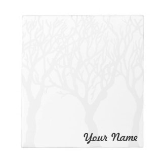 Trees with Your name - customizable notepad