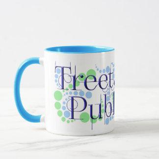 Treetangle Bubbles in Blue & Green Mug