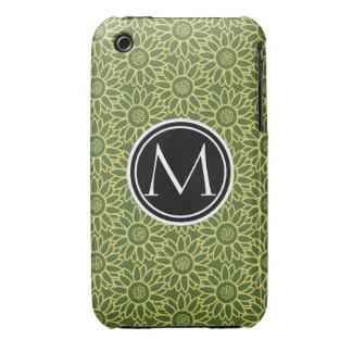 Treetop Sunflower Personalized Monogram iPhone 3 Case