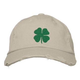 Trèfle brodé de feuille de l'Irlandais quatre Chapeaux Brodés