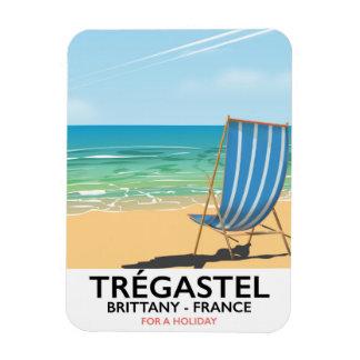 Trégastel, Brittany France beach travel poster Magnet