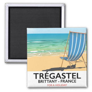 Trégastel, Brittany France beach vacation poster Magnet