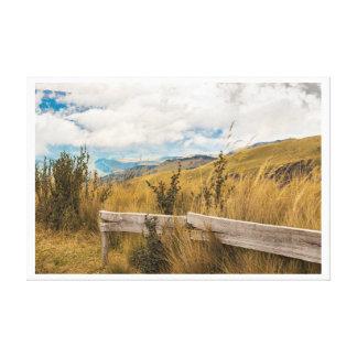 Trekking Road at Andes Range in Quito Ecuador Canvas Print