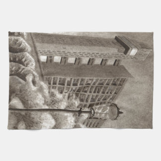 Trellick Tower original drawing Kitchen Towel
