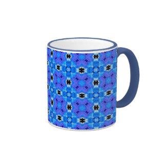 Trellis d'édredon floral violet bleu moderne tasse à café