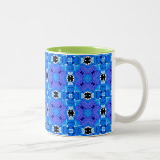 Trellis d'édredon floral violet bleu moderne mugs à café