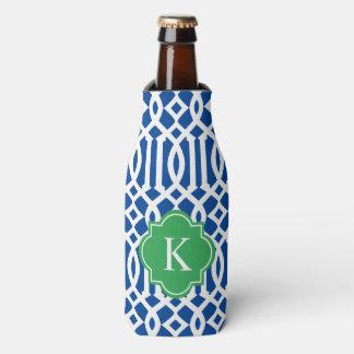 Trellis in Navy & Green | Bottle Cooler