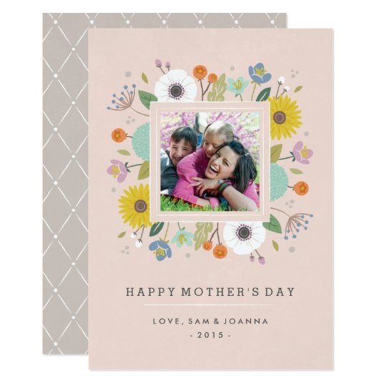 Trellis Mother's Day Card - Blush