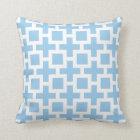 Trellis Pattern Sky Blue Throw Pillow