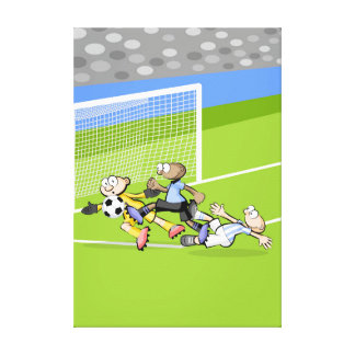 Tremendous soccer played serca of the arc canvas print