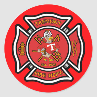 Tremont Fire Department Classic Round Sticker