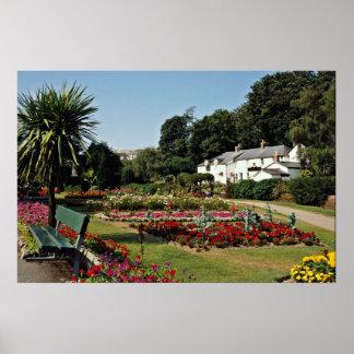 Trenance Gardens, Newquay, Cornwall, U.K.  flowers Poster