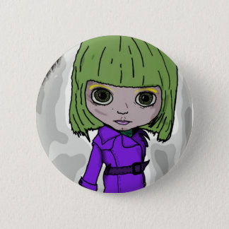 Trench Coat Blythe 2 Inch Round Button