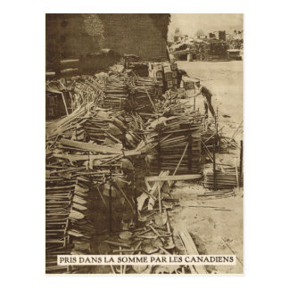 Trenching equipment taken to the Somme Postcard