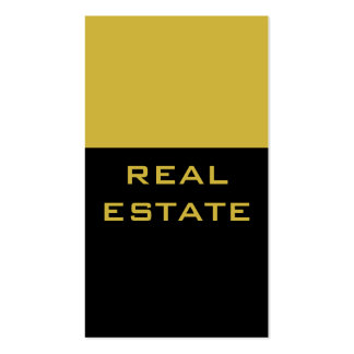 Trend Black Gold Color Striped Agent Business Card