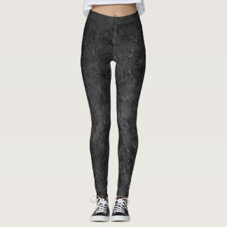 Trend-Setters Charcoal Gray Faux Texture Leggings