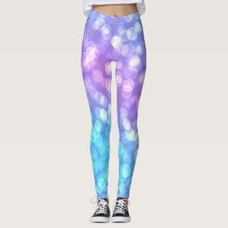 Trend-Setters Pastel Bokeh Designer Leggings