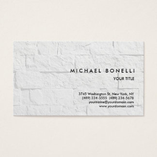 Trend Simple Wall Brick Professional Business Card