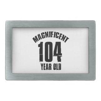 TRENDING 104 YEAR OLD BIRTHDAY DESIGNS RECTANGULAR BELT BUCKLE