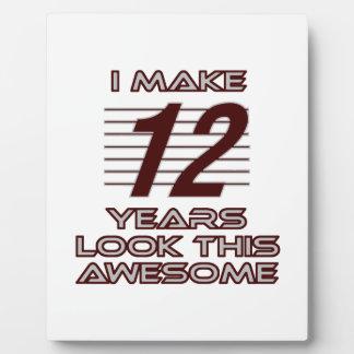 TRENDING 12 YEAR OLD BIRTHDAY DESIGNS PLAQUE