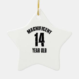 TRENDING 14 YEAR OLD BIRTHDAY DESIGNS CERAMIC ORNAMENT