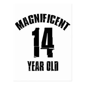 TRENDING 14 YEAR OLD BIRTHDAY DESIGNS POSTCARD