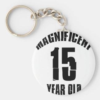 TRENDING 15 YEAR OLD BIRTHDAY DESIGNS KEYCHAIN