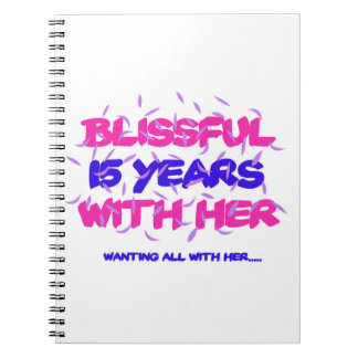 Trending 15TH marriage anniversary designs Notebooks