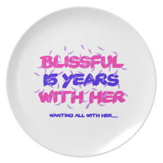 Trending 15TH marriage anniversary designs Plate