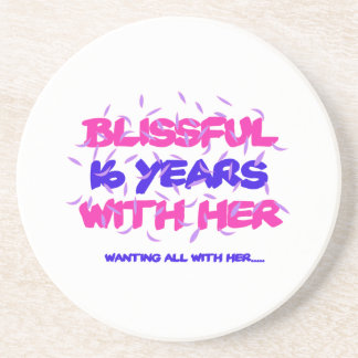 Trending 16th marriage anniversary designs coaster