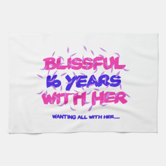Trending 16th marriage anniversary designs kitchen towel