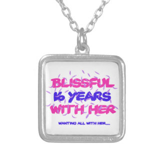 Trending 16th marriage anniversary designs silver plated necklace