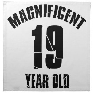 TRENDING 19 YEAR OLD BIRTHDAY DESIGNS CLOTH NAPKIN
