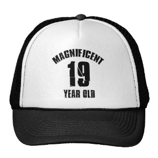 TRENDING 19 YEAR OLD BIRTHDAY DESIGNS TRUCKER HAT